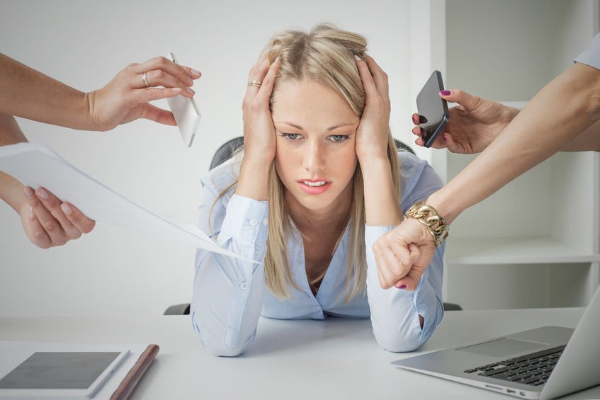 45139724 - depressed business woman