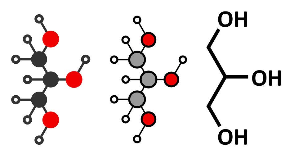 glycerol (glycerin) molecule.