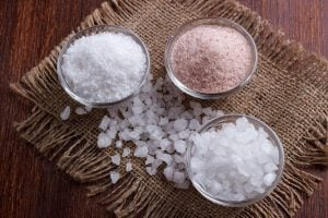 a variety of types of salt